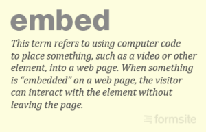 Embed definition