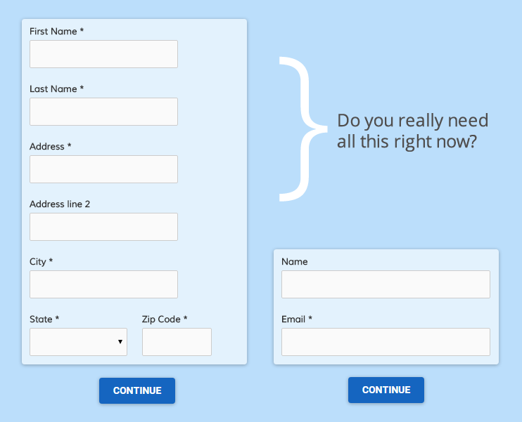Optimize Form Items