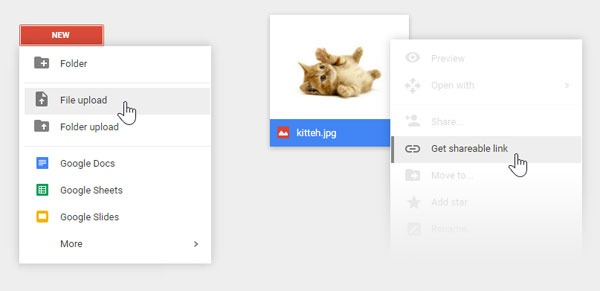 Link Images Using Google Drive