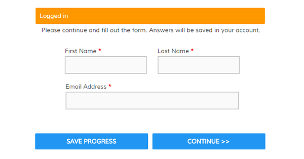 Save & Return Form