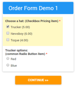 Order Forms Demo 1