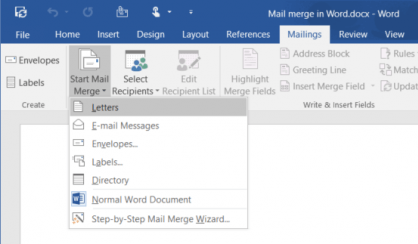 Formsite Word Mail Merge 2016