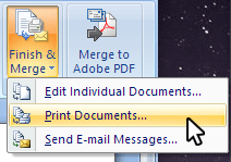 Formsite Word Mail Merge print