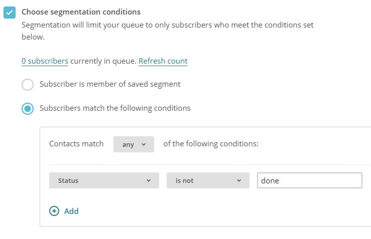Formsite reminders list segment