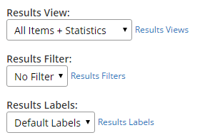 Formsite export filters