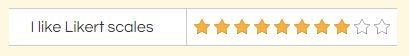 Formsite Likert Star Rating
