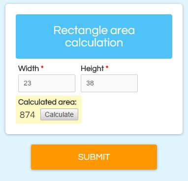 Formsite custom calculator