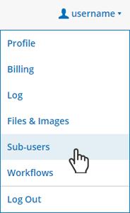 Formsite sub-users menu