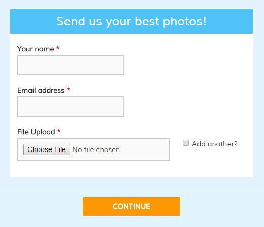 Formsite file upload sample
