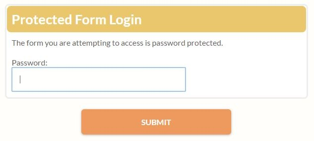 Formsite password entry