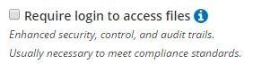 Formsite password require login
