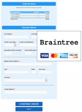 Formsite Braintree integration