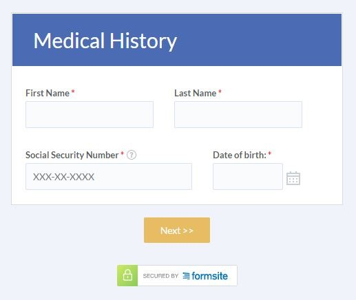 Formsite secure forms