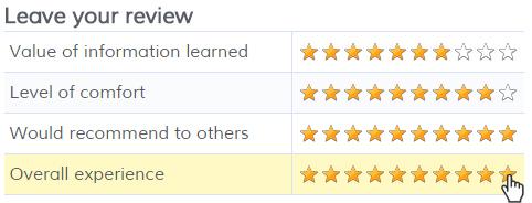 Formsite matrix star rating