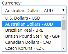 Formsite currency payment settings