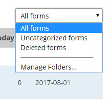 Formsite My Forms folders