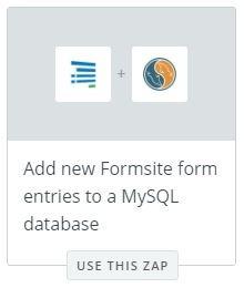 Formsite MySQL Zapier
