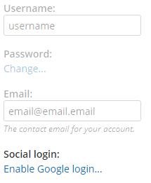 Formsite release social login