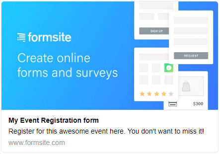 Formsite release social preview