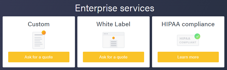 Formsite friendly pricing Enterprise services