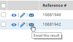 Formsite Results Table email result