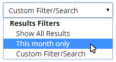 Formsite Results Table Filters