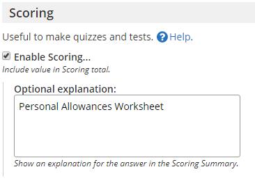 Formsite Results PDF Scoring