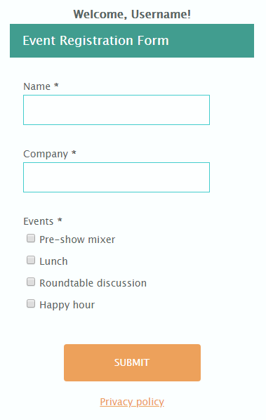 Formsite form header footer