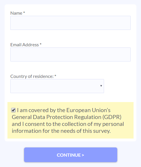 Formsite GDPR Rules example