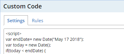 Formsite date rules custom code