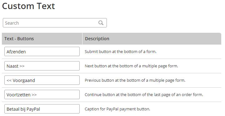 Formsite international custom text