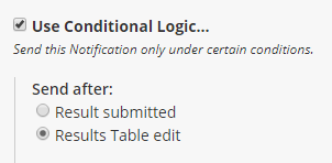 Formsite updating results conditional logic