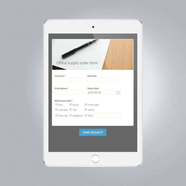 Formsite sizing images iPad