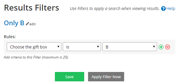 Formsite export Results Reports Filter