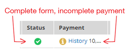 Formsite restore incomplete results payment