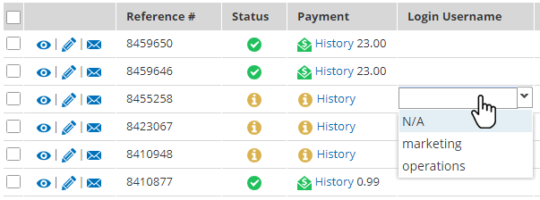 Formsite restore incomplete results username