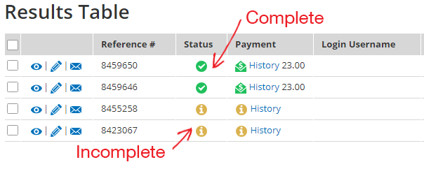 Formsite restore incomplete results