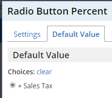 Formsite add tax radio button percent default value