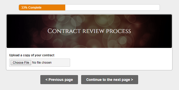 Formsite page rules