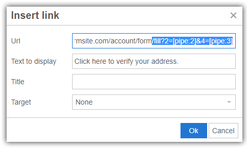 Formsite email address verification email link