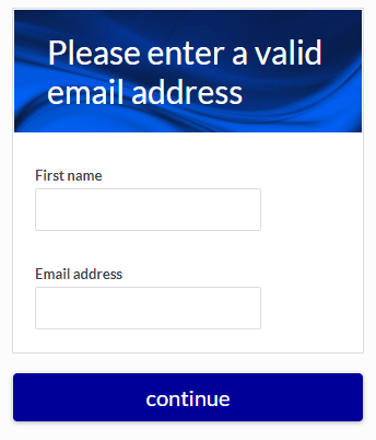 Formsite email address verification