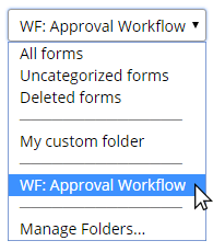 Formsite folders Workflow