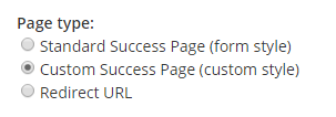 Formsite Success Page format settings