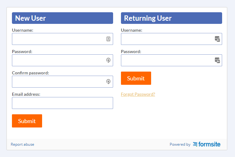 Formsite long forms save and return