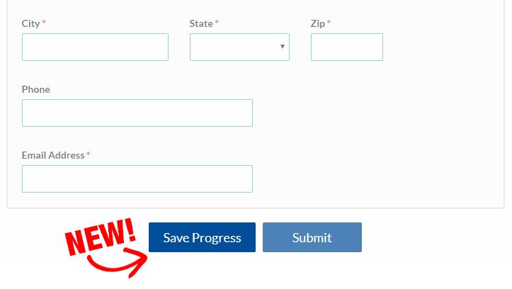 Formsite save progress