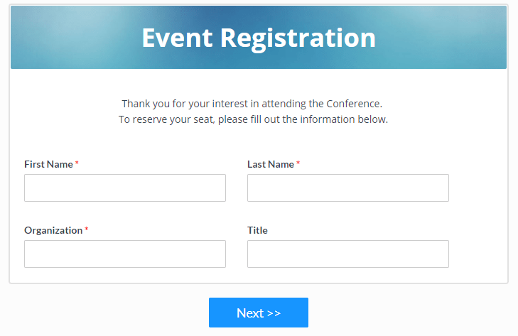 Formsite event forms
