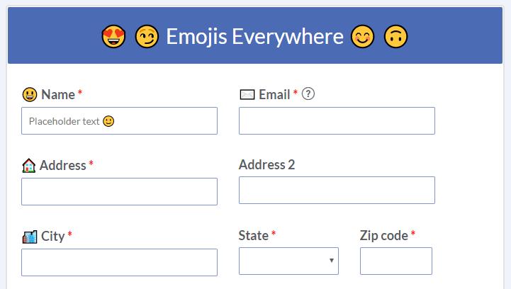 Formsite emojis template