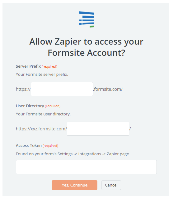 Formsite send email Notifications Zapier integration