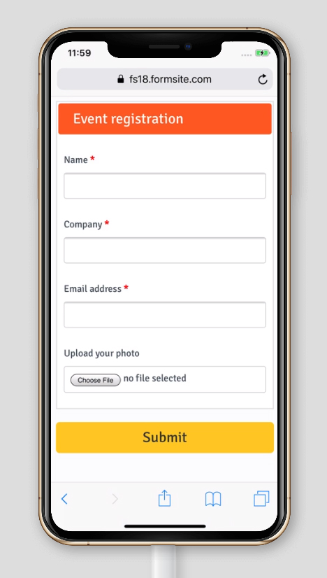Formsite attach mobile photos online form
