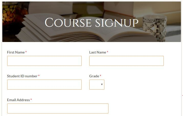 Formsite education form templates